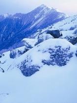 南アルプス 冬