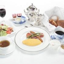 □ボーセジュール朝食 オムレツ ~爽やかな高原の朝に~