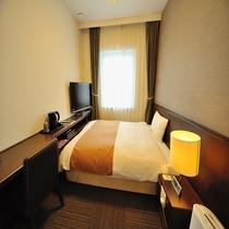 ◆エコノミーシングルルーム 11㎡ ベッドサイズ140cm×195cm バスなし