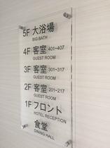廊下 案内板