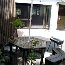 【BBQ器具無料貸出】         庭で気軽にBQQ。網、木炭使用タイプ。無料貸出です。