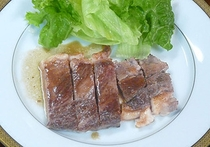 常陸牛のステーキ