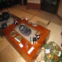 囲炉裏テーブル式