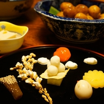 旬菜会席料理:秋の前菜(例)
