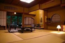 中庭向きの客室の一例