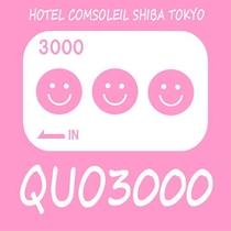 QUO3000円付きプラン
