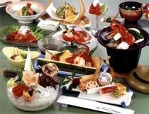 和食会席料理の一例(夏バージョン)