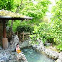 四季の景色が彩る露天風呂