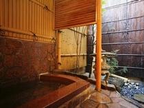 麗藻の間(16号室)の露天風呂