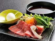 松茸と黒毛和牛すきしゃぶ鍋
