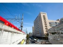 ホテル外観(名鉄豊田市駅より)
