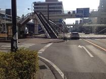 JR大分駅からホテル駐車場まで⑪
