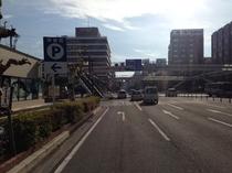 JR大分駅からホテル駐車場まで⑩