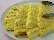 朝食の一例 手作り玉子焼き
