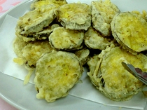 朝食の一例 さつまいもの天ぷら