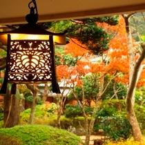 花月亭の庭