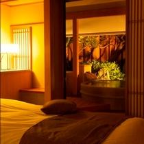 露天風呂付き客室はベッドタイプ【Cタイプ】