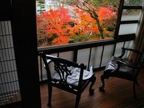 閑古錘の部屋から眺める紅葉2