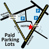 ②Paid Parking Lots(rough)