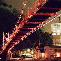 つり橋夜景