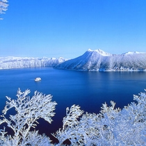 摩周湖の冬