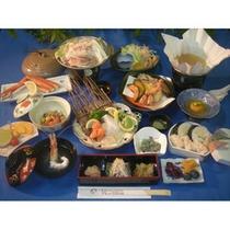 秋御膳(お食事の例、内容は変更になる場合がございます)