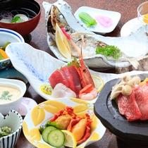 *【夕食全体例】定番のものから普段なかなか味わうことのない味覚までお楽しみ頂けます。