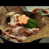 やわらか鴨肉の朴葉焼き