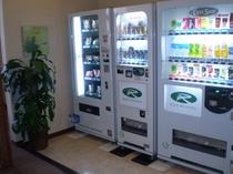 お酒やジュースの自動販売機☆夜中にのどが渇いても外出なし!甚平のままでOKです♪