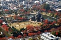 国宝 松本城「紅葉」