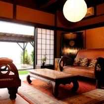 【二階屋洋室】温泉露天風呂付離れ「おぼろ月」