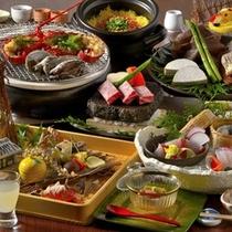 【夕食一例】伊豆の豪華四大美味