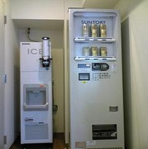 6階にございます製氷機はご自由にご利用下さいませ♪缶ビール自販機です♪