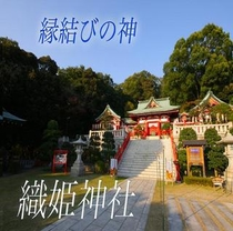 縁結びの神が宿る織姫神社はカップルで是非♪パワースポットとしても有名です。