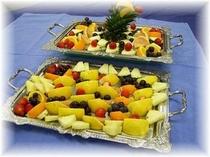 朝食・フルーツ盛り一例