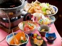 海鮮石鍋会席