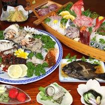 ★海鮮三昧プラン夕食例