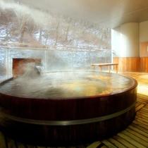 *(冬)繭玉の湯/冬は運がよければ雪見風呂が堪能できます♪
