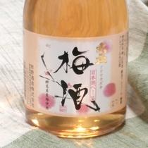 *梅酒/約400年続く酒蔵で作られた、日本酒ベースの梅酒。スッキリとした味わいで男性にもおすすめ