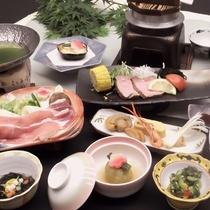 *(夏)お気軽会席/通常より量少な目、お手軽価格です。お腹やお財布に優しいお料理重視の方に。