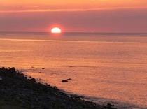 施設から見える日本百景に選出された夕日