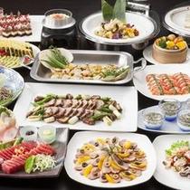 ◆夕食バイキングイメージ。旬の食材を思う存分ご堪能ください