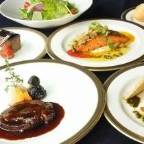 ◆<レストランスラローム>冬の食事一例/地産池消にこだわった四季折々の食事をご堪能ください