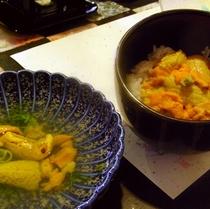 *ウニ丼と三平汁