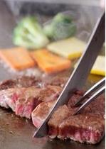 備前牛のステーキ