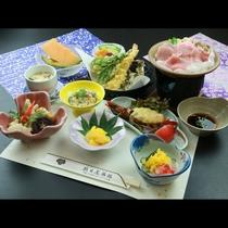 【リーズナブル御膳『梅』】のお食事一例。