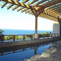 太平洋一望の天然温泉 露天風呂