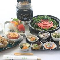 【秋メニュー:琥珀コース】松茸釜飯、常陸牛の味噌鍋など季節の味をお楽しみ下さい