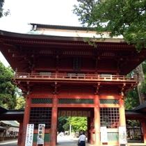 【鹿島神宮】当館から58km。鹿島神社の総本社で、関東では最も古い社