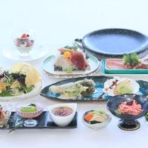 【春の献立】お料理少なめでお得なプランは大好評。茨城の3種の肉や新鮮な御造里をお楽しみください。